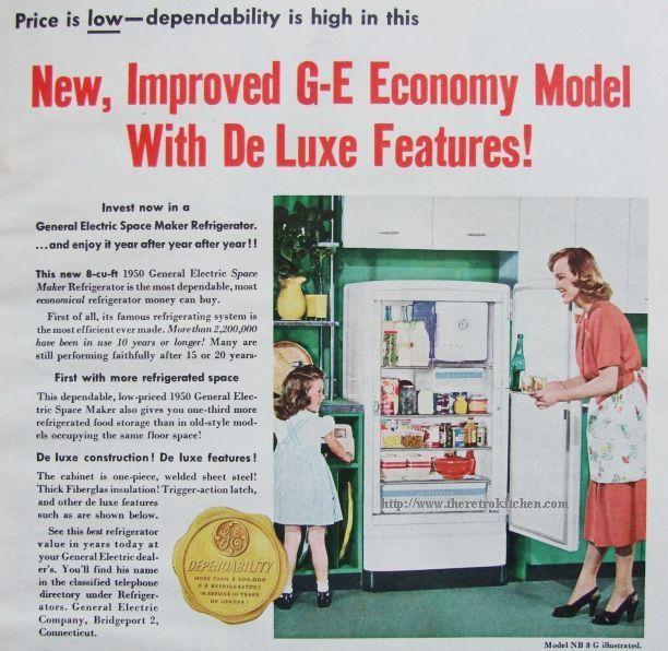 1950u0027s Add For Vintage Refrig