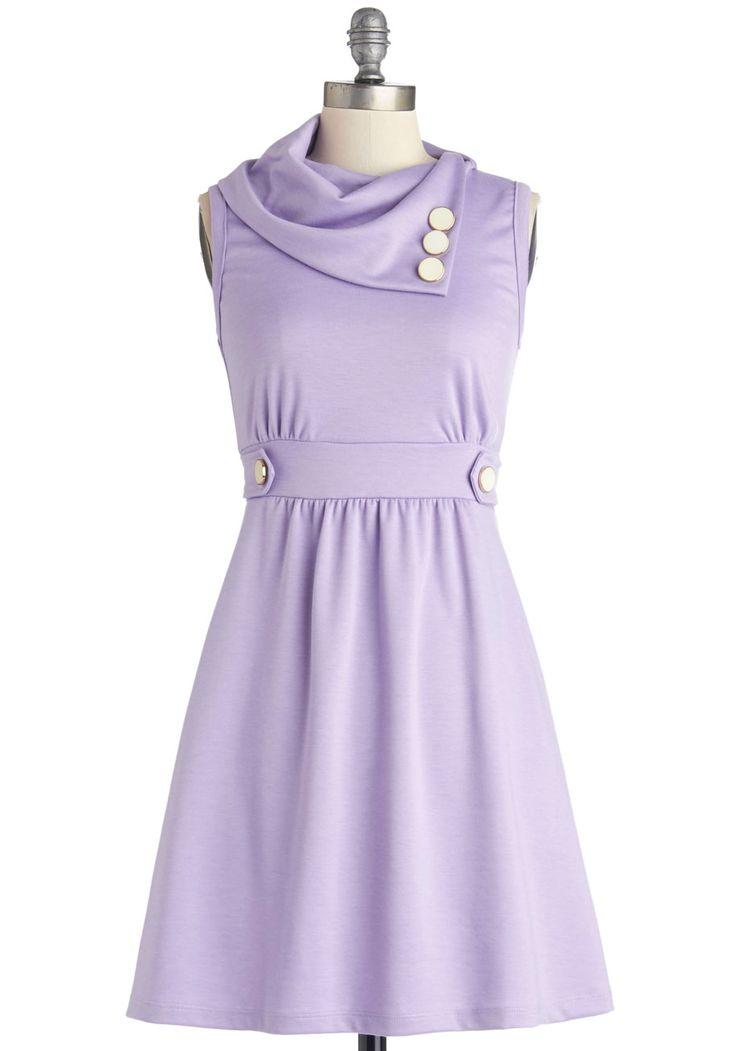 Coach Tour Dress in Lavender | Mod Retro Vintage Dresses | ModCloth.com