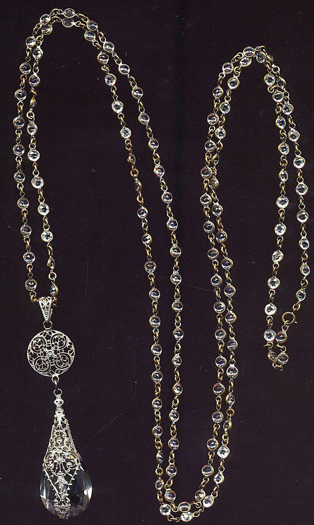 long crystal necklace, circa 1925