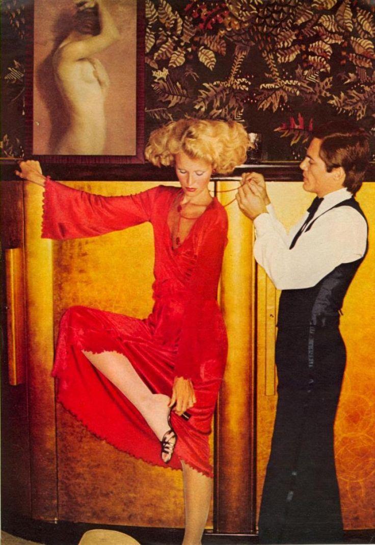 Vogue Editorial October 1974 - Gunilla Linblad, Susan Schoenberg & Jerry Hall by Helmut Newton