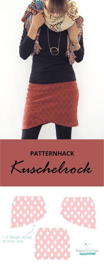 Patternhack: ein Wickelrock für kalte Tage – Der Kuschelrock für Damen von Rap…