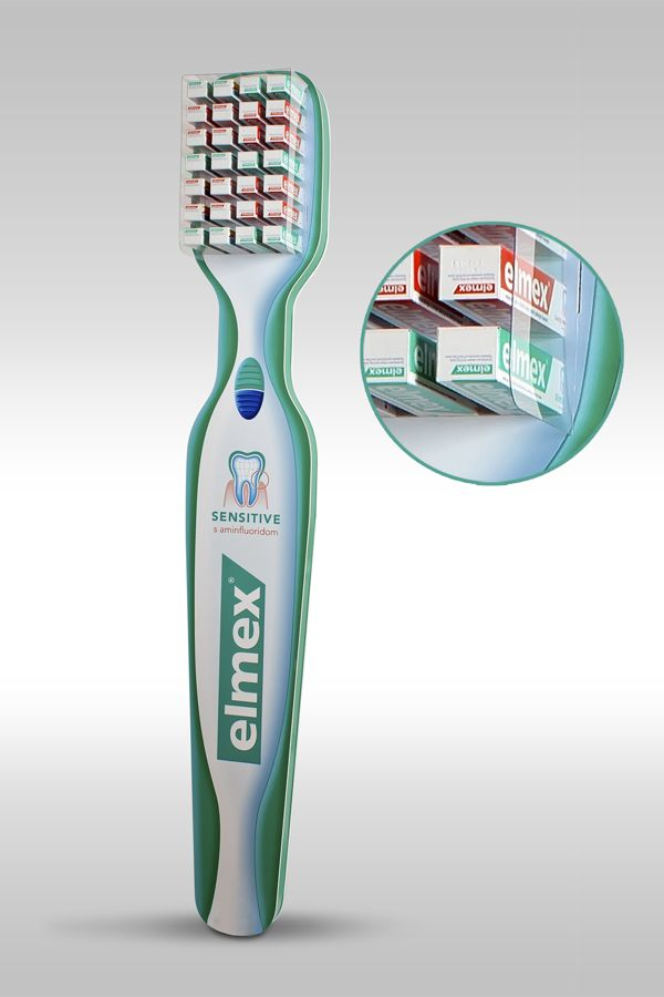 Elmex stand for toothpaste by Slavomr Artim, via Behance
