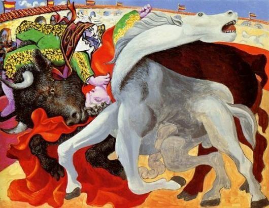 Pablo Picasso-Course de taureaux, la mort du toréro