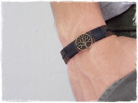 Handmade Leather Bracelet/ Wristband with Tree Of Life Charm ~ MADE TO ORDER ~    NOTE: Please allow 3-5 business days for the creation of the