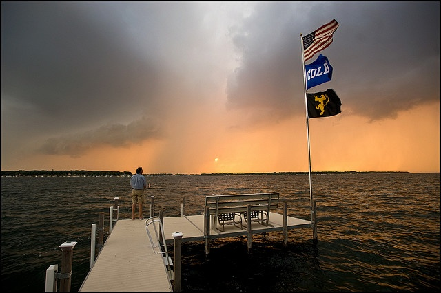 Storm over Lake Okoboji, Iowa. I survived m y first real tornado here!