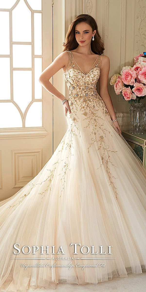 Perfect Jeweled Wedding Dresses Trend For