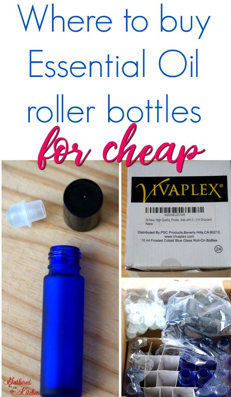 Where to buy essential oil blue glass roller bottles for cheap