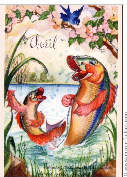 Joyeux 1er avril ! Profitez du 1er avril pour faire des farces à vos amis émoticône smile http://www.merci-facteur.com/cartes/rub32-1er-avril.html #poissondavril #1eravril #humour Carte Les poissons d'Avril se marrent dans leur mare pour envoyer par La Poste, sur Merci-Facteur !