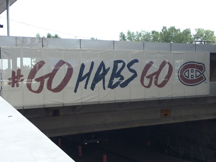 GO HABS GO banner outside the Centre Bell. #montreal #quebec #canada #travel #canadiens #habs #gohabsgo #hockey