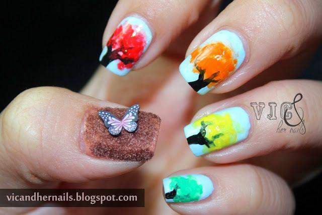 Vic und ihre Nägel: Oktober N.A.I.L. – Thema 2: Herbstbäume   – Nail Envic (Nail and Vic)