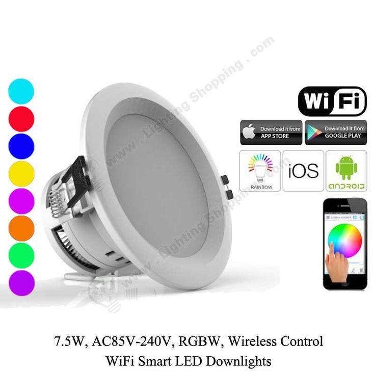 RGBW Wifi LED Downlights 7.5W -1 more details at >>> http://www.lightingshopping.com/rgbw-wifi-led-downlights-7-5w.html