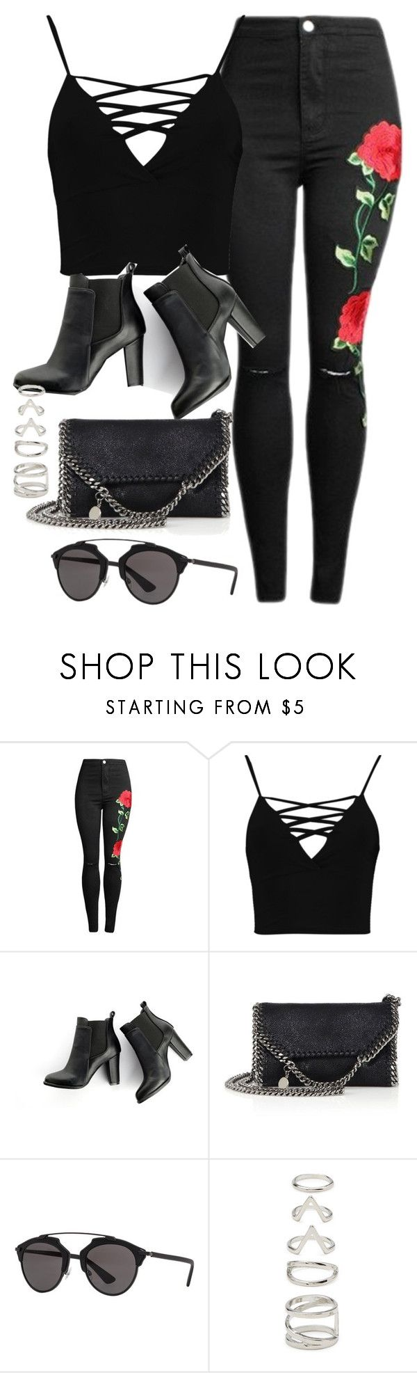 """""""Sin título #12258"""" by vany-alvarado ❤ liked on Polyvore featuring Boohoo, SWEET MANGO, STELLA McCARTNEY, Christian Dior and Forever 21"""