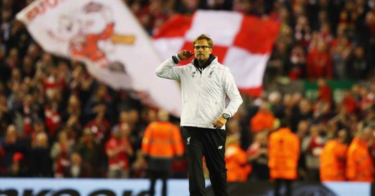Liverpool: Klopp Rasakan Atmosfer Sepak Bola Terbaik Di Stadion Anfield -  http://www.football5star.com/liga-inggris/liverpool/liverpool-klopp-rasakan-atmosfer-sepak-bola-terbaik-di-stadion-anfield/89222/