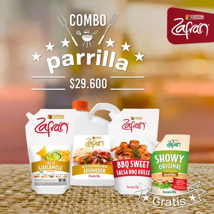 Con el Combo parrilla Zafrán® el sabor de tus asados estará garantizado. Cómpralo en la tienda.zafran.com.co. #productoszafran #universozafran