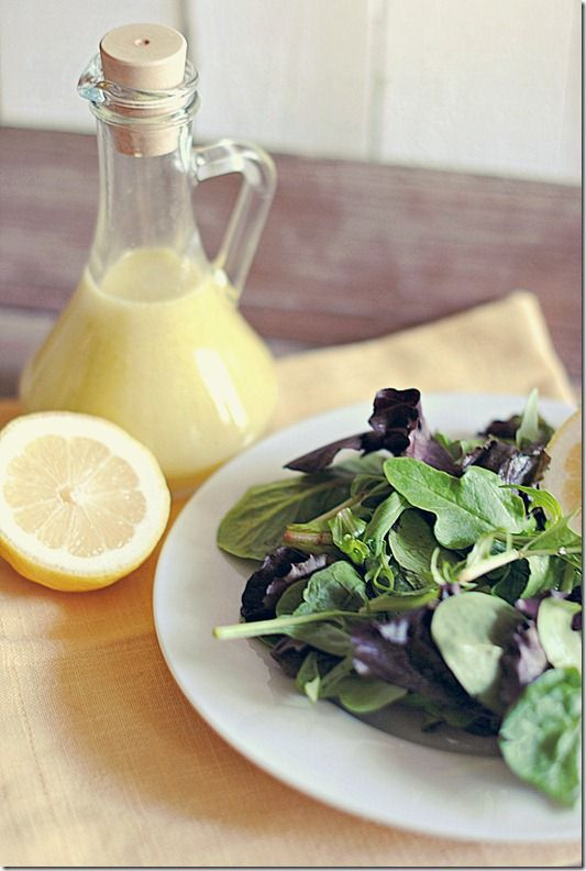 Eat Yourself Skinny!: Champagne Vinaigrette - great on mixed greens with a little parmesan. i found the original recipe a little sweet so i added a bit more dijon mustard, some garlic powder, and a little more olive oil. was also very generous with fresh ground pepper.