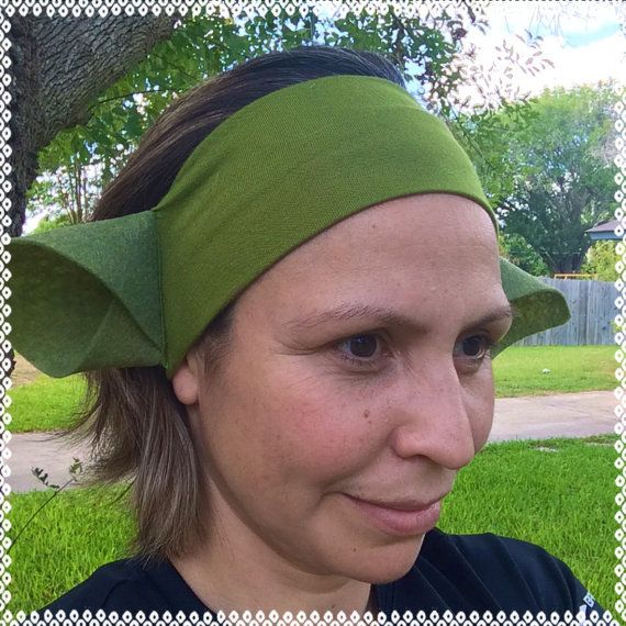 Esy DIY Yoda ears  headband 3 inches wide by ChickyBands on Etsy