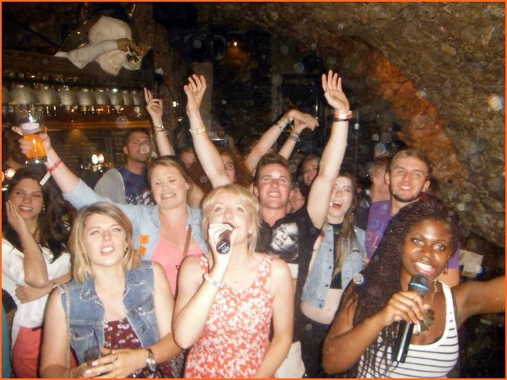 Nightlife in Krakow is not only dancing- karaoke party is always great fun!