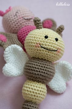 Baby rattles – bees, butterflies and caterpillars