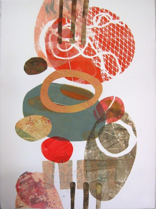 Jane Davies - collage journeys: Monoprint Collage At Pacific Northwest Art School