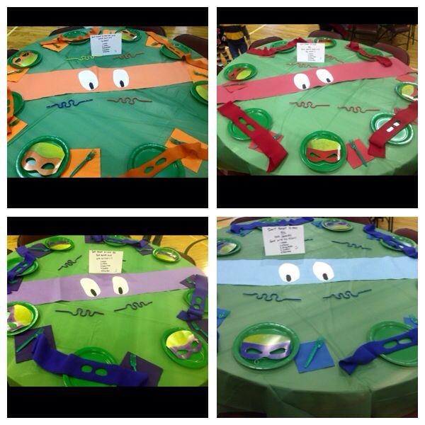 Teenage Mutant Ninja Turtles Birthday Party Food