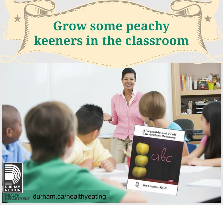 Grow some peachy keeners in your classroom with the Vegetable and Fruit Curriculum Resource! Find ready to use classroom activities, handouts and supportive resources to help get your students growing with vegetables and fruit #DurhamEMVF #educators