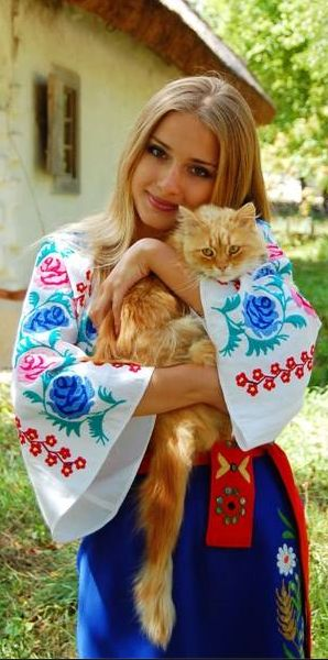 cute cat - my two loves, cats and Ukraine, and they go together so well.