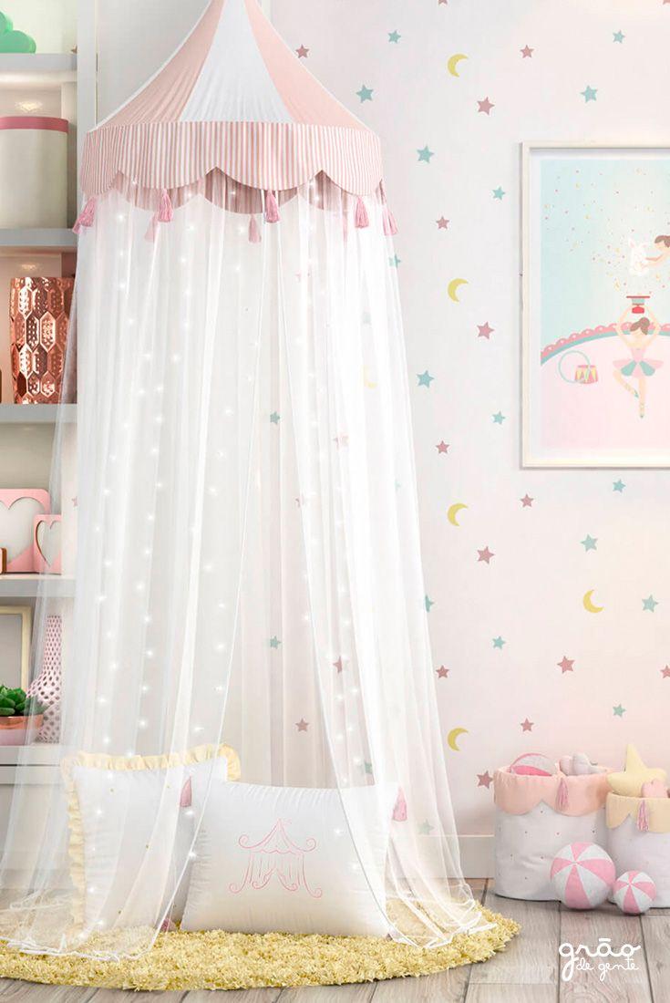 370554a1ab A Tenda Dossel Circo Rosé/Branco 2m é lúdica e encantadora! Com listrinhas  nas cores branco e rosé e uma paleta de cores graciosa, essa tenda é uma  ótima ...
