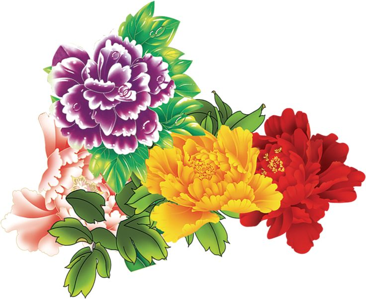 Colorful flowers clip art | Clip Art Everyday for Cards ... Colorful Flowers Clipart