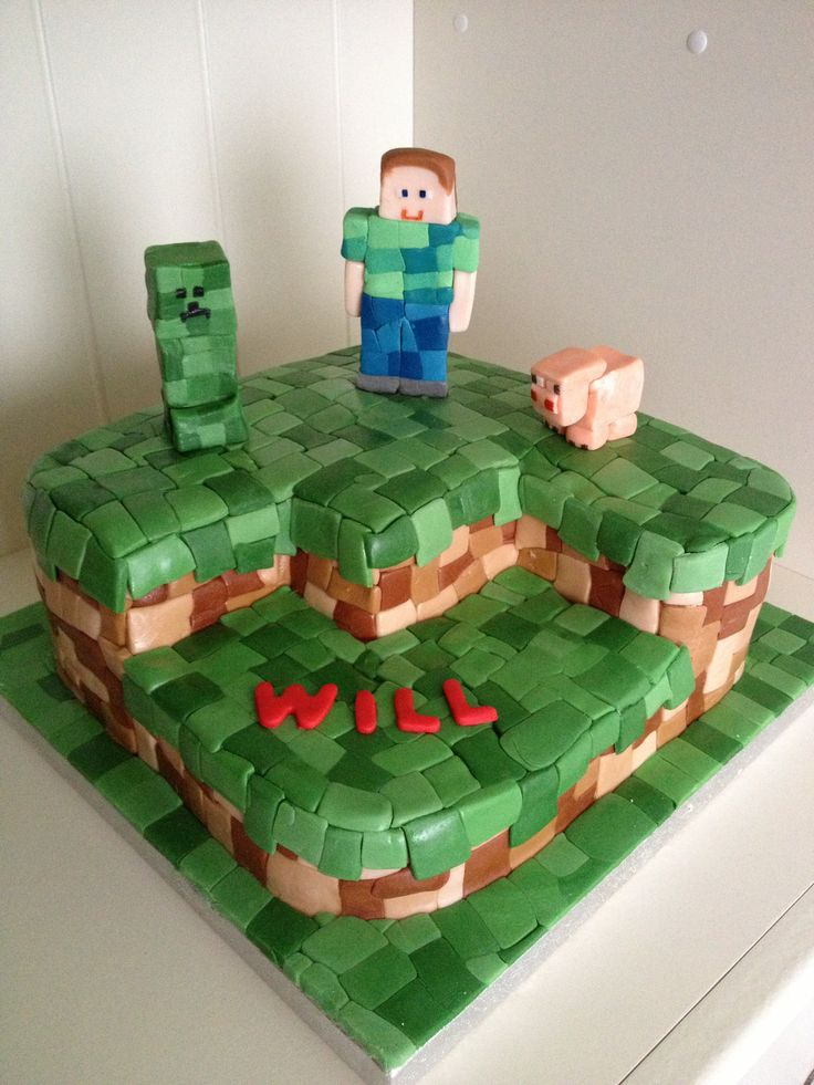59 Best Images About Lego-Minecraft Cake On Pinterest