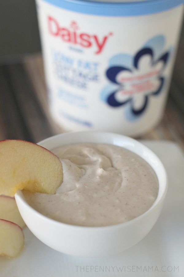 Healthy Fruit Dip Using Daisy Cottage Cheese