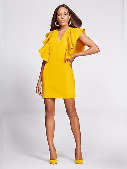 996194121f8 Women s Gabrielle Union Collection - Ruffle-Sleeve Shift Dress  gabrielle  union  gabrielle union collection  dress  ruffle sleeve dress  rachel ray  show