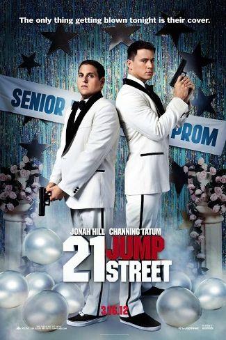 21 Jump Street movie poster. With a tagline working just a liiiiitle too hard.
