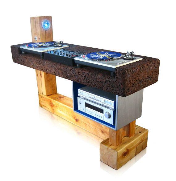 Custom DJ Table Custom DJ Booth made from reclaimed by Trevoroneil