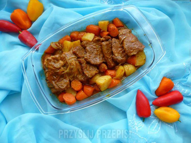 Karkówka z warzywami