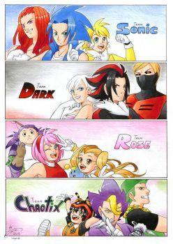 Humanization: Sonic Heroes by FinikArt