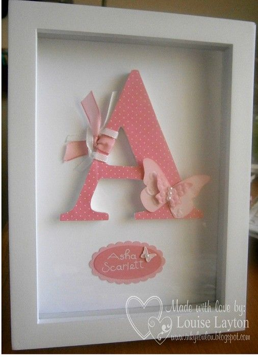 Personalised Letter Frame-Small - by inkylouloudesigns on madeit