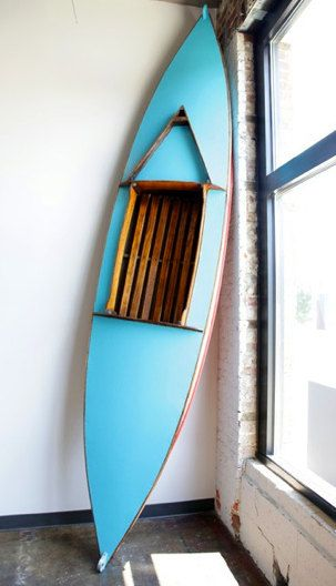 Turquoise Teak Canoe by MSDModern on Etsy, $4000.00