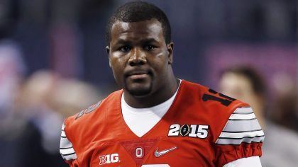 Ohio State quarterback Cardale Jones was taken to the hospital because of a headache, his mother told The Toledo Blade.