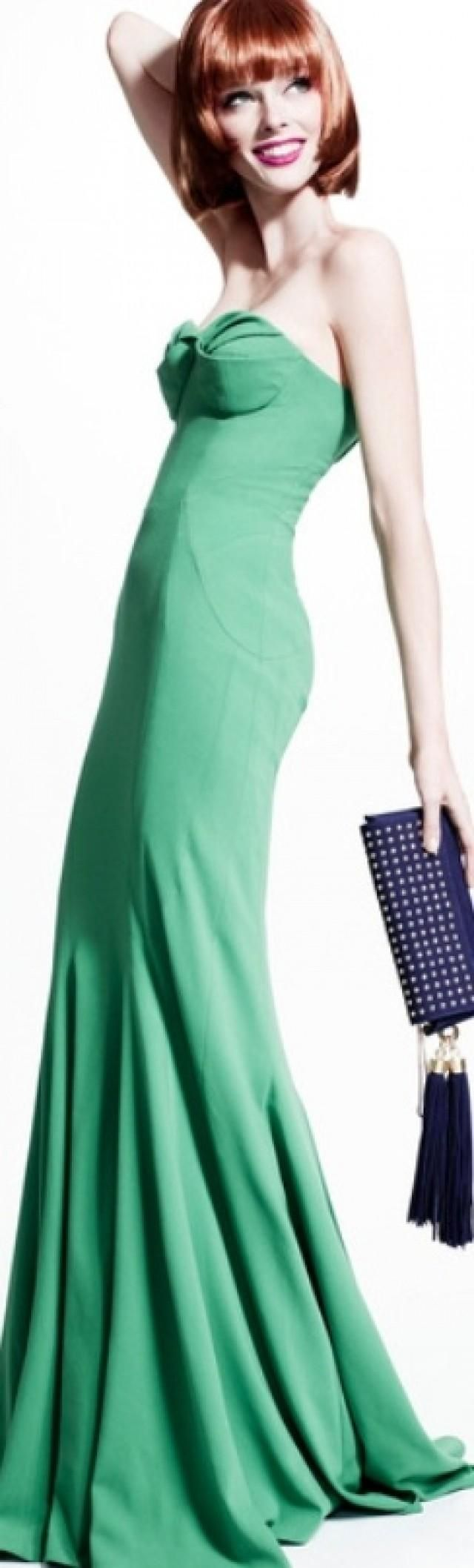 Zac Posen Resort 2014 green