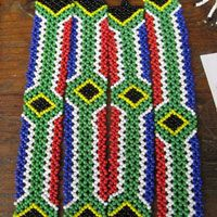 Beaded South African flag bracelets