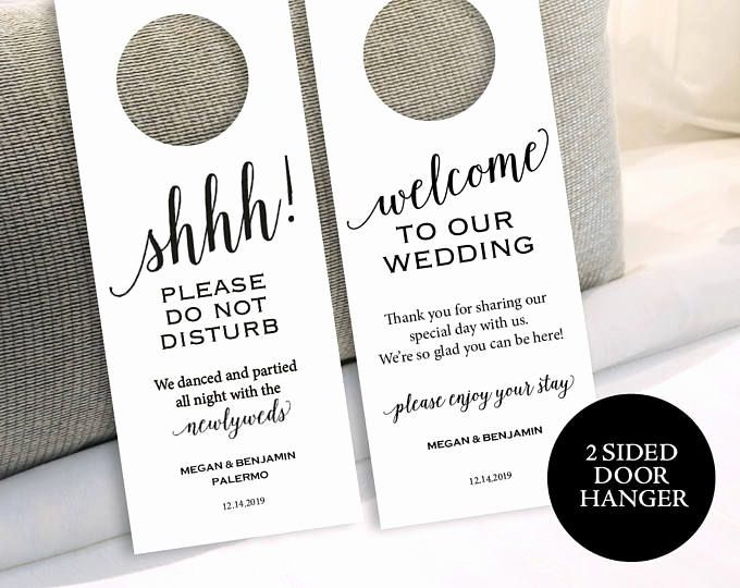 Avery Door Hanger Template Inspirational 25 Best Ideas About Wedding Door Hangers On Pinterest Door Hanger Template Wedding Door Hangers Wedding Doors
