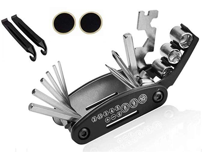 Ojealy Bike Repair Tool Kit Cycling Repair Kit 16 In 1