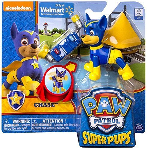 No job is too big no pup is too small! Paw Patrol Super Pups are ready to save the day. Dressed in superhero attire and complete with removable backpack the Super Pups action figures are armed for a...