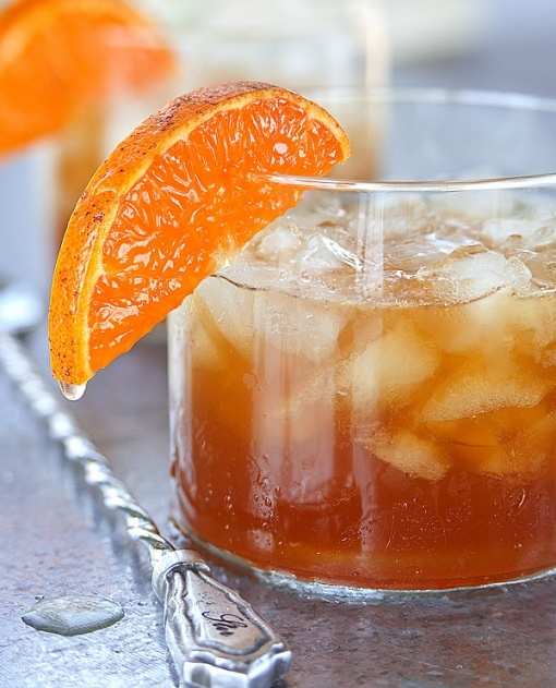 Gin & Juice recipe: Pour 1 1/2 oz.Bluecoat American Dry Gin,1 1/2 oz. fresh squeezed honey tangerine juice,1 1/2 oz Pimm's No.1, and 2 teaspoons pure maple syrup over ice in a rocks glass. Stir and garnish with a half slice of honey tangerine. Refreshing and complex! Cheers!