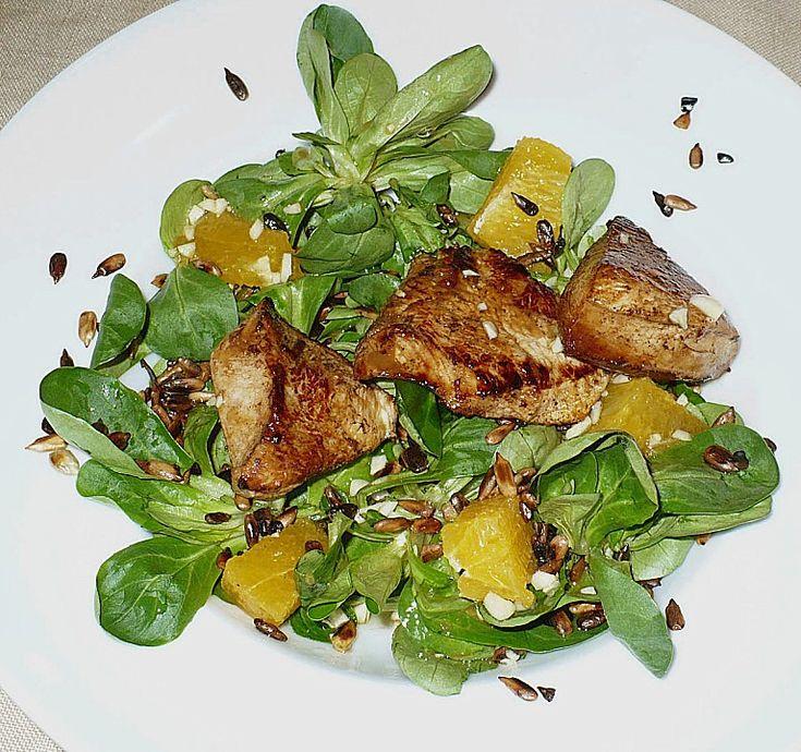 Feldsalat mit Putenbrustfilet und Orangen - Vinaigrette, ein raffiniertes Rezept aus der Kategorie Fleisch & Wurst. Bewertungen: 7. Durchschnitt: Ø 4,0.