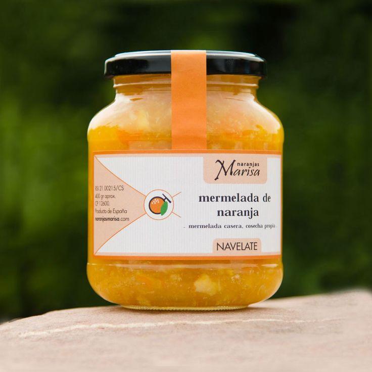 Productos elaborados – Naranjas Marisa. TARRO DE MERMELADA DE NARANJA NAVELATE 400GR. Productos elaborados 100% naturales y de cosecha propia