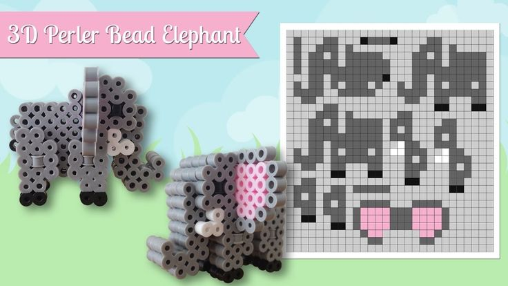 How To Make A Cute Perler Bead 3D Elephant