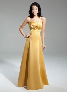 Wedding Party Dresses - $133.99 - Empire Strapless Floor-Length Charmeuse Bridesmaid Dress With Ruffle  http://www.dressfirst.com/Empire-Strapless-Floor-Length-Charmeuse-Bridesmaid-Dress-With-Ruffle-007014910-g14910