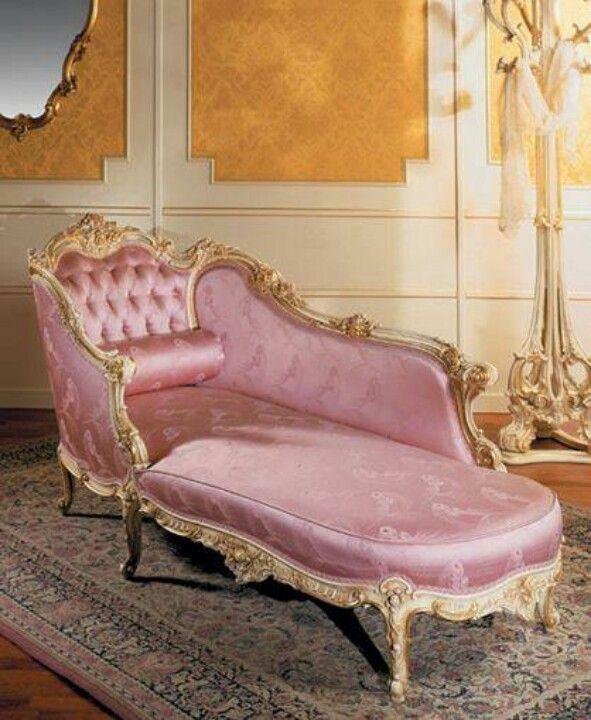 Pink vintage fainting couch~ to faint upon...                              …