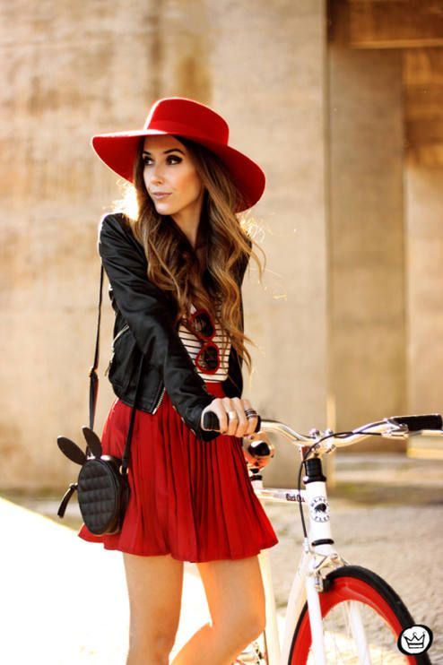 Seriously, does anyone really ride a bike dresses like this? Cool looking bike and a pretty model....FashionCoolture